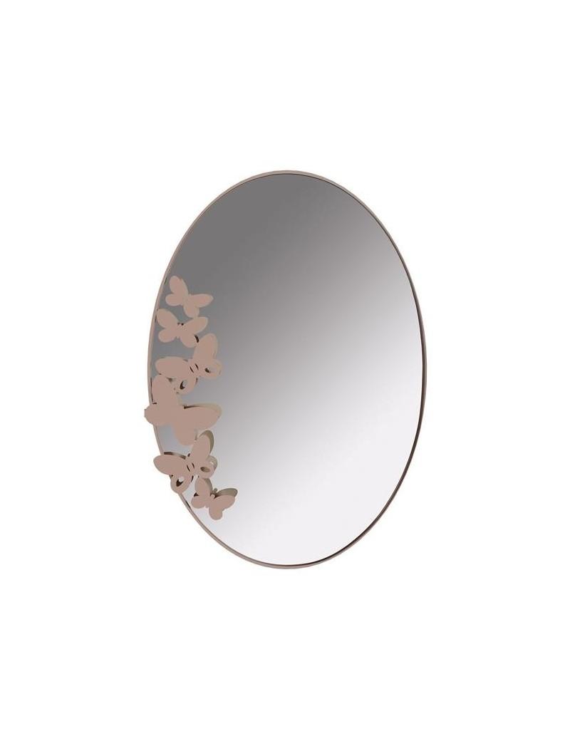 Butterfly specchio da muro design farfalle beige