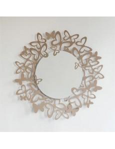 ARTI e MESTIERI: Butterfly storm specchio da parete metallo beige 86cm in offerta