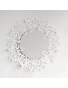 ARTI e MESTIERI: Butterfly specchio da parete design farfalle storm metallo bianco in offerta