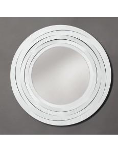 Origami specchio da parete moderno in metallo bianco sagomato