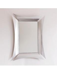 ARTI e MESTIERI: Morgana specchio da parete contemporaneo in foglia argento in offerta