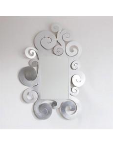ARTI e MESTIERI: Temple specchio da parete contemporaneo foglia argento in offerta