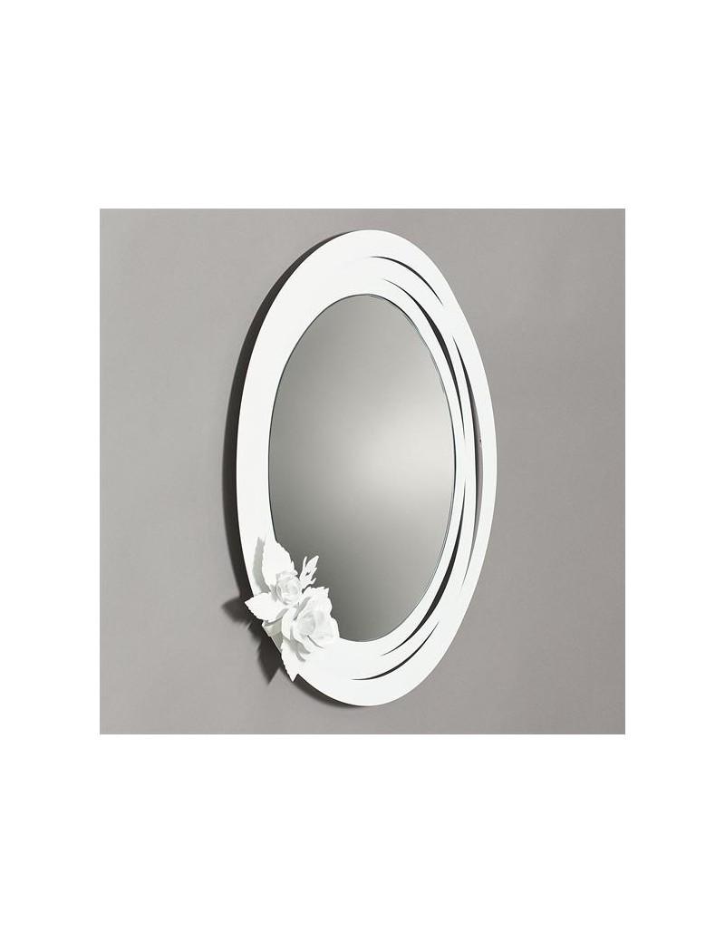 Specchi Moderni Da Parete.Bouquet Specchio Da Parete Moderno Metallo Bianco