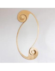 ARTI e MESTIERI: Circe oro specchio da parete stile contemporaneo in offerta