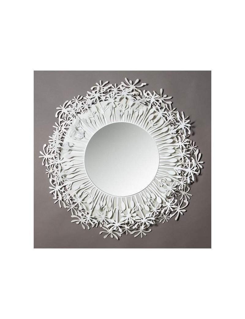 Soffione specchio da parete avorio bianco per camera da letto