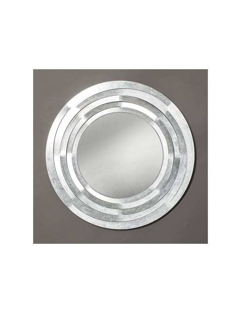 Origami specchio da parete in foglia argento design for Specchio argento moderno