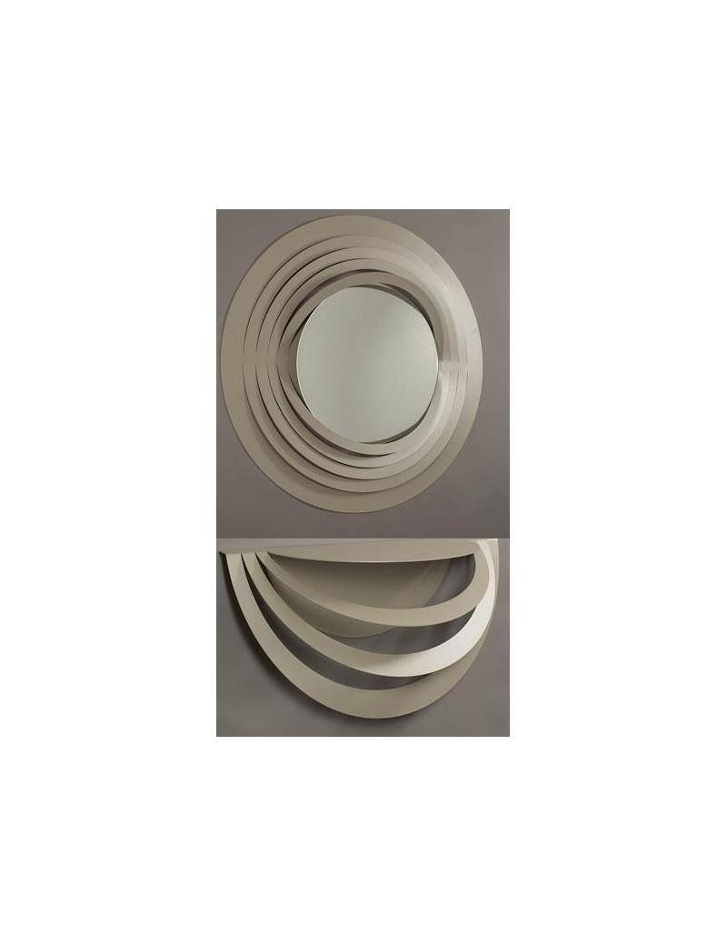 Arti e mestieri optical consolle e specchio da parete for Specchio da parete moderno