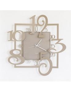 Arti e Mestieri: Amos orologio a pendolo beige moderno 38cm in