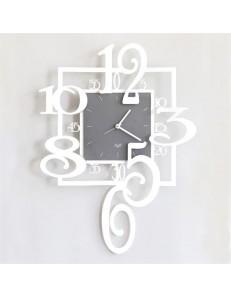 Amos orologio a pendolo da parete moderno bianco grigio