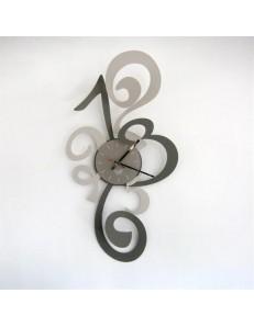 ARTI & MESTIERI: Truciolo orologio da parete moderno fango e nocciola 40x80cm in offerta