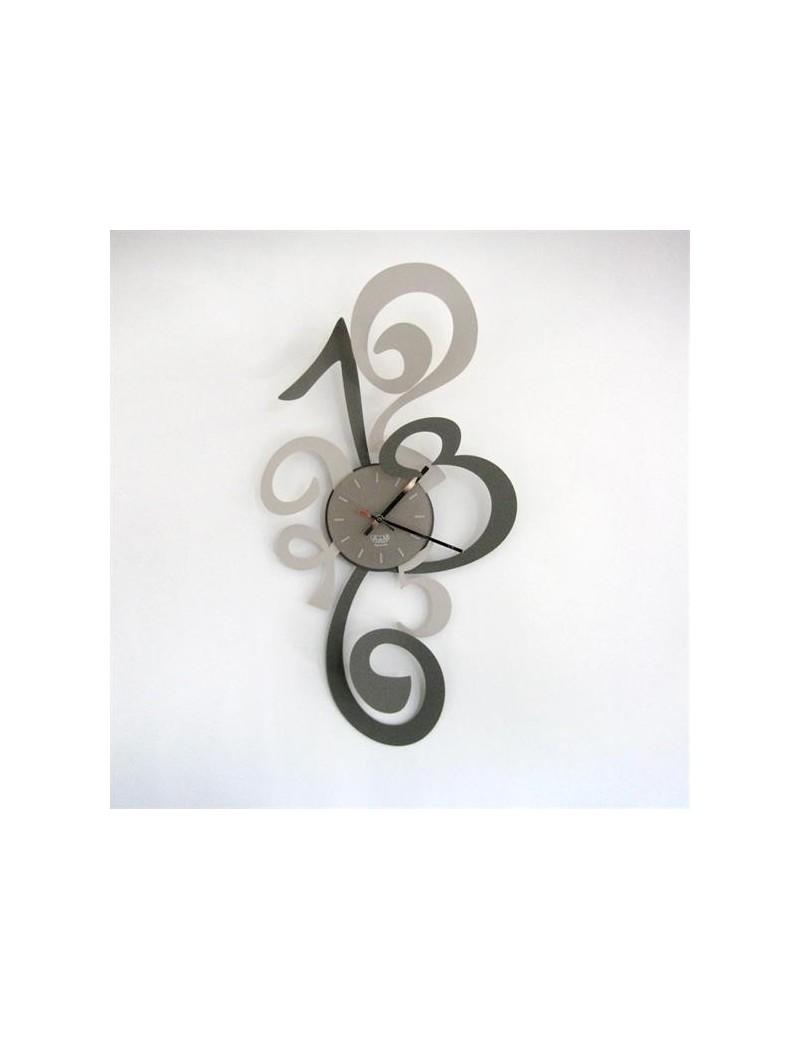 ARTI e MESTIERI: Truciolo orologio da parete moderno fango e nocciola 40x80cm in offerta