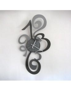 ARTI e MESTIERI: Truciolo grande orologio da parete moderno ardesia e alluminio in offerta