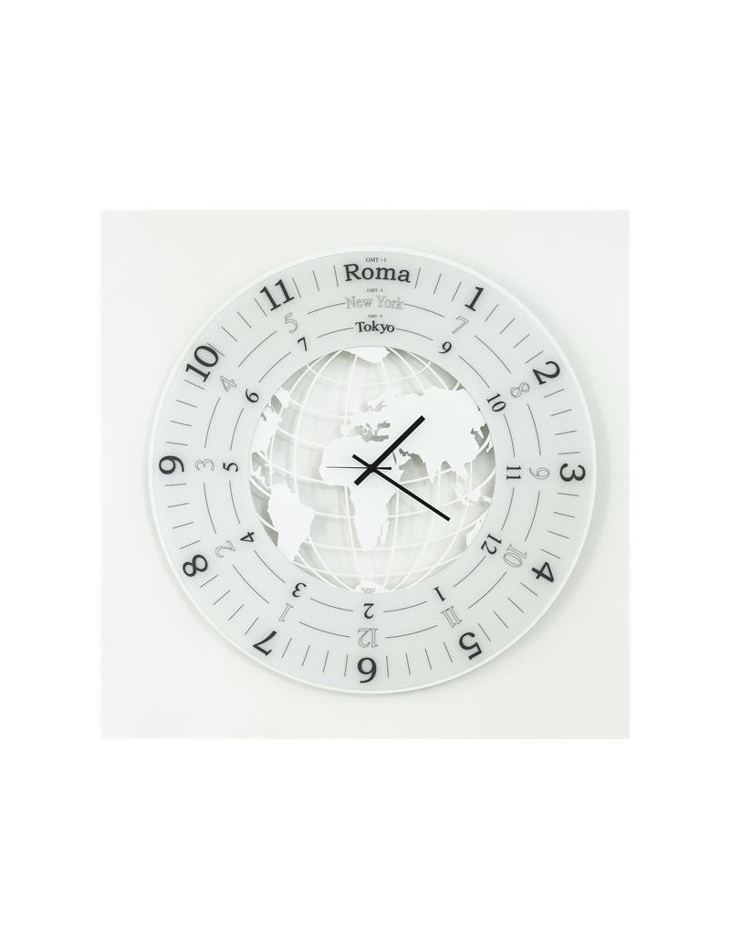 Arti e mestieri grande orologio da parete world bianco for Arti e mestieri orologio da parete prezzi