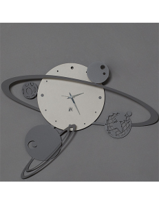 ARTI e MESTIERI: Sistema solare orologio da parete moderno nocciola 50cm in offerta