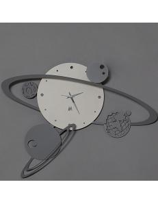 ARTI & MESTIERI: Sistema solare orologio da parete moderno nocciola 50cm in offerta