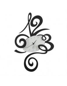 ARTI e MESTIERI: Robin orologio da parete particolare metallo nero 51cm in offerta