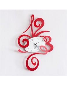 ARTI & MESTIERI: Robin orologio da parete rosso e bianco 51cm in offerta