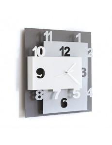ARTI & MESTIERI: Ziggurat orologio da parete moderno antracite alluminio e bianco in offerta
