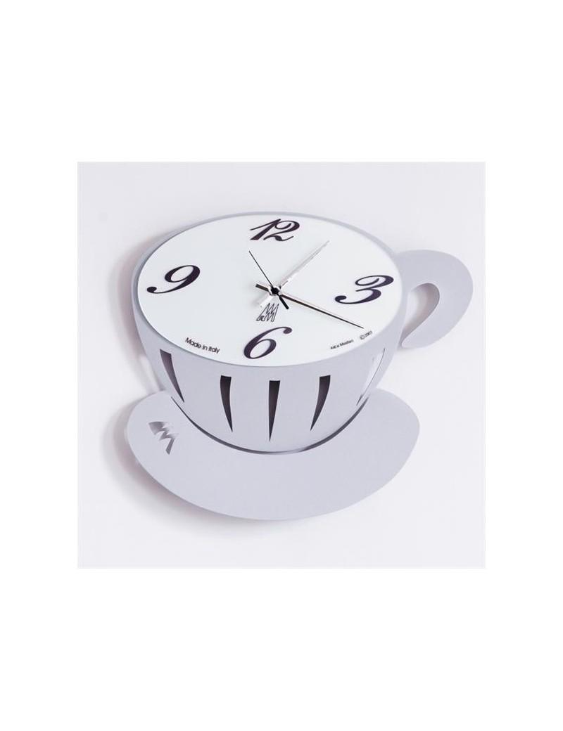 Pausa orologio da parete per cucina alluminio 43cm