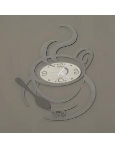 Arti e Mestieri: Al bar orologio moderno da parete ardesia e