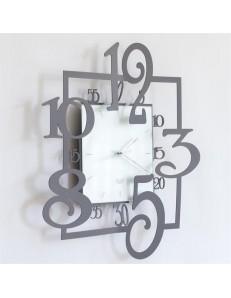 Arti e Mestieri: Amos orologio da parete moderno ardesia bianco