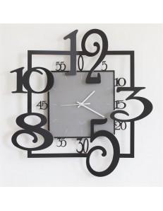 Arti e Mestieri: Amos orologio da parete nero e grigio 50cm in
