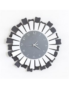 ARTI & MESTIERI: Lux orologio da parete moderno metallo ardesia bianco in offerta