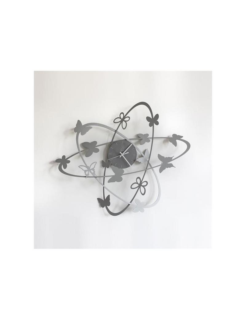 Arti e mestieri multi butterfly orologio da parete for Orologio da muro farfalle