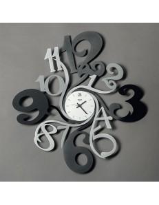 ARTI & MESTIERI: Step orologio da parete grande nero alluminio fume' in offerta