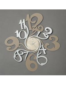 ARTI & MESTIERI: Step orologio da parete beige e bianco design moderno in offerta