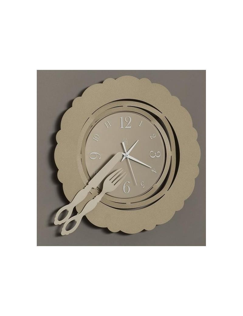 Brunch time orologio da parete moderno beige per cucina