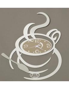 Arti e Mestieri: Al bar orologio da parete per cucina bianco