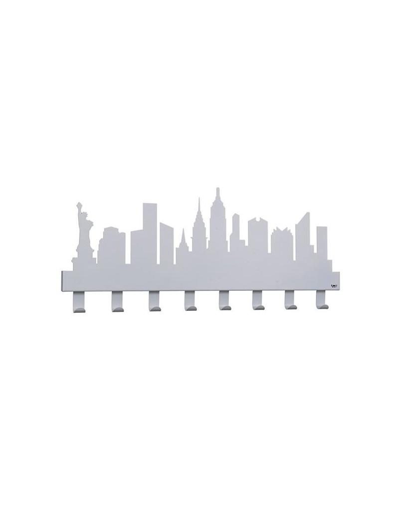 Appendi Giacche Da Muro.Arti E Mestieri New York Appendi Abiti Da Muro Moderno Grigio Alluminio
