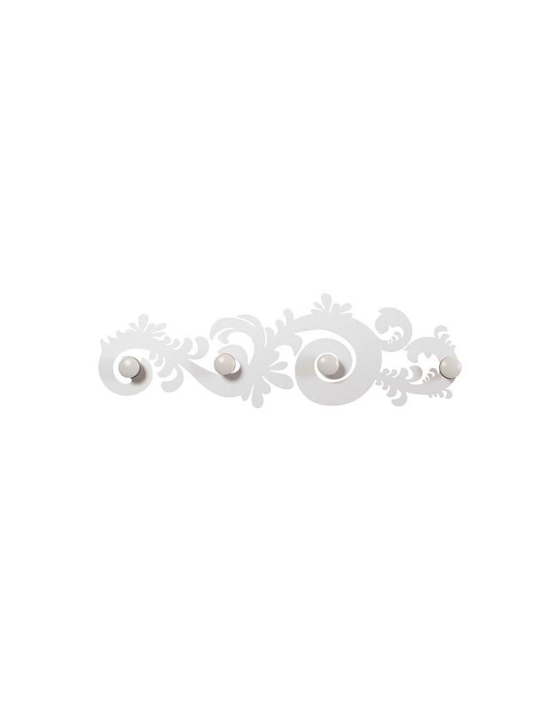 Appendiabiti Moderni Da Parete.Arti E Mestieri Classic Appendiabiti Moderno Da Parete Design Metallo Bianco