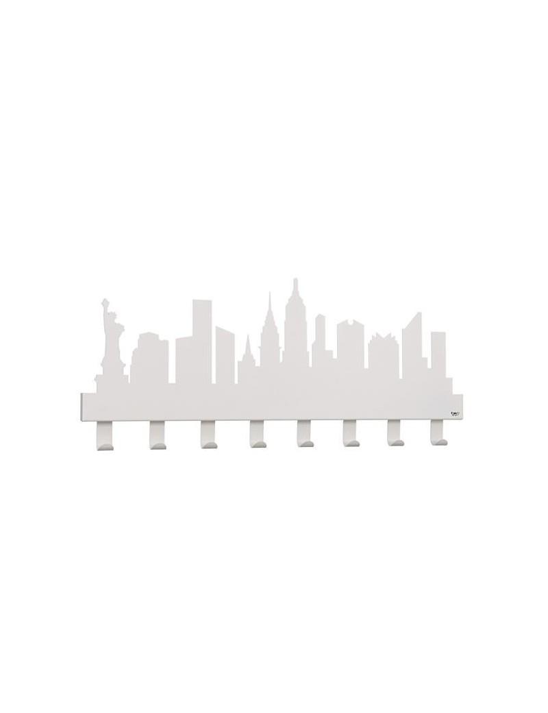Appendiabiti A Muro Moderni.New York Appendiabiti Da Muro Moderno Bianco Neve Arti E Mestieri