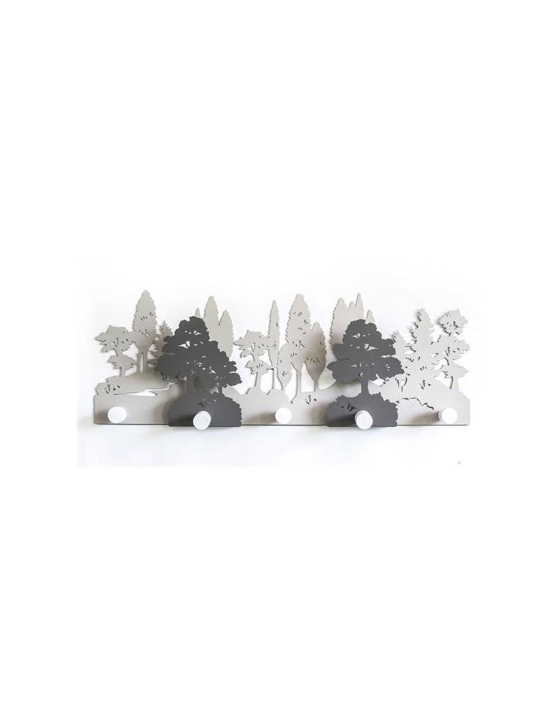 Appendiabiti da muro moderno design Alberi nocciola fango bianco