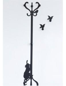ARTI & MESTIERI: Romeo e gli uccellini appendiabiti nero design moderno in offerta