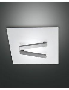 Fabas Luce: Agia plafoniera LED quadrata bianca 35x35cm in