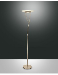 FABAS LUCE 3376-10-225 LAMPADA DA TERRA ALICANTE LED 33W+7W 3800lm COLOR ORO OPACO