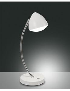 FABAS LUCE: Bike lampada da tavolo LED struttura in metallo e metacrilato bianco h42cm in offerta