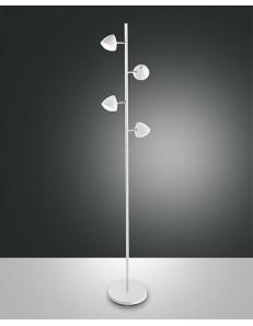 Fabas Luce: Bike piantana LED in metallo bianco con luce al