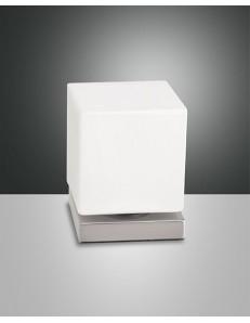 FABAS LUCE: Brenta lampada da tavolo LED nichel satinato touch in offerta