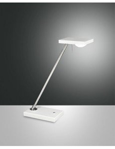 FABAS LUCE: Lampada da tavolo LED cromo bianca touch in offerta