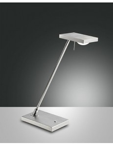 FABAS LUCE: Como lampada da tavolo LED 8w 660lm touch alluminio spazzolato in offerta