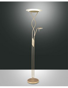 FABAS LUCE 3375-10-225 LAMPADA DA TERRA CORTINA LED 33W+7W 3800lm COLOR ORO OPACO
