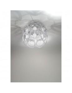 Plafoniera cristallo Mary Rose Diametro 30 cm bianco Antea Luce