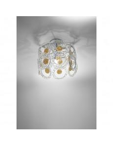 Plafoniera cristallo Mary Rose Diametro 30 cm oro Antea Luce