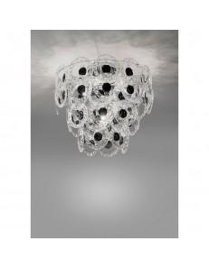 Plafoniera cristallo Mary Rose Diametro 55 cm nero Antea Luce