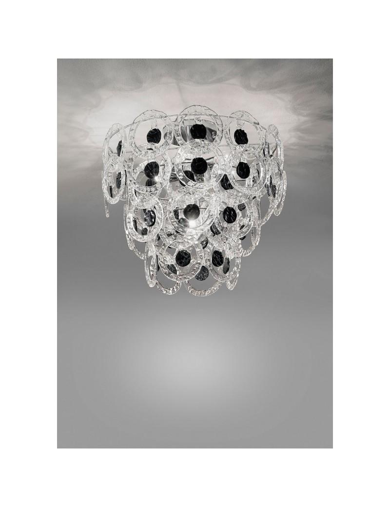 Mary rose plafoniera cristallo nero 55cm