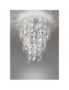 Plafoniera cristallo Mary Rose Diametro 55 cm bianco Antea Luce